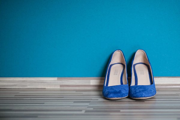 Spring Wedding Blue Flats Bridal Shoes