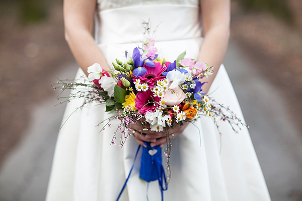 Spring Wedding Colorful Bridal Bouquet