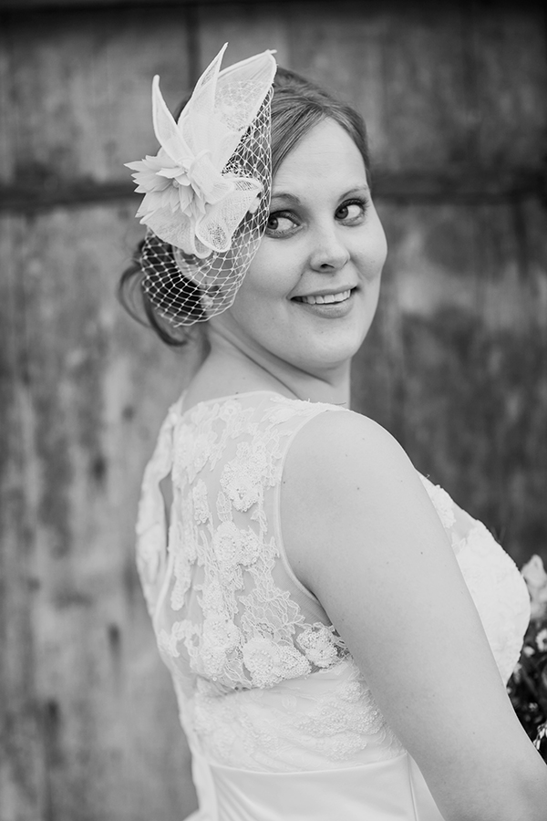 Spring Wedding Bride Portrait Fascinator