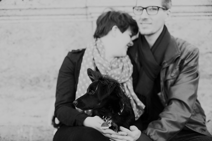 couple photo session  Berlin puppy love